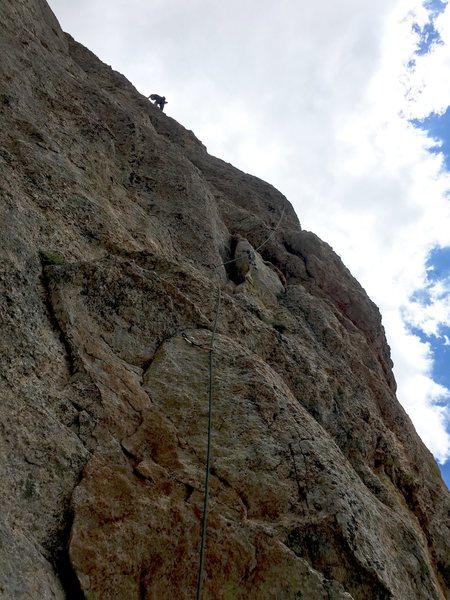 Rock Climbing Photo: Elliot up high on a beautiful day!