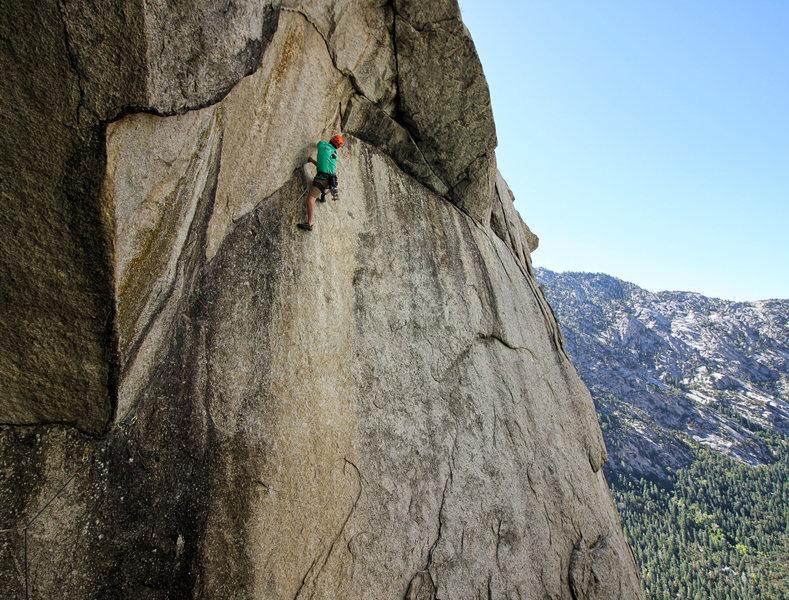 Rock Climbing Photo: George Maynard on Trinity Right