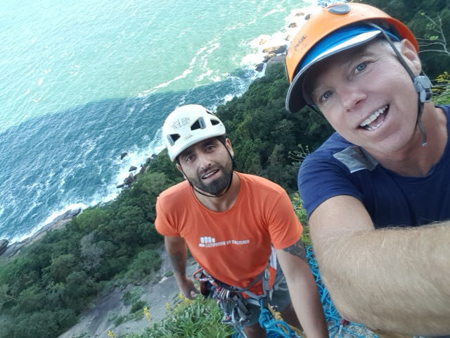 Rock Climbing Photo: With Victor on Sugar Loaf