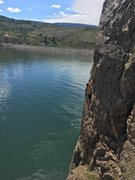 Rock Climbing Photo: First decent ledge after the sketchy traverse. Hea...