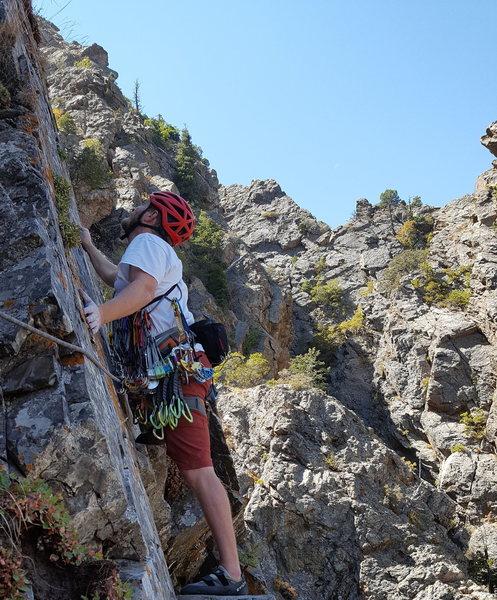 Rock Climbing Photo: Starting up P3