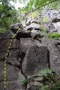 Rock Climbing Photo: Picture of route looking up from base