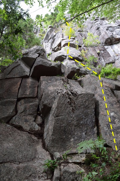 Base of climb, taken from slightly left.