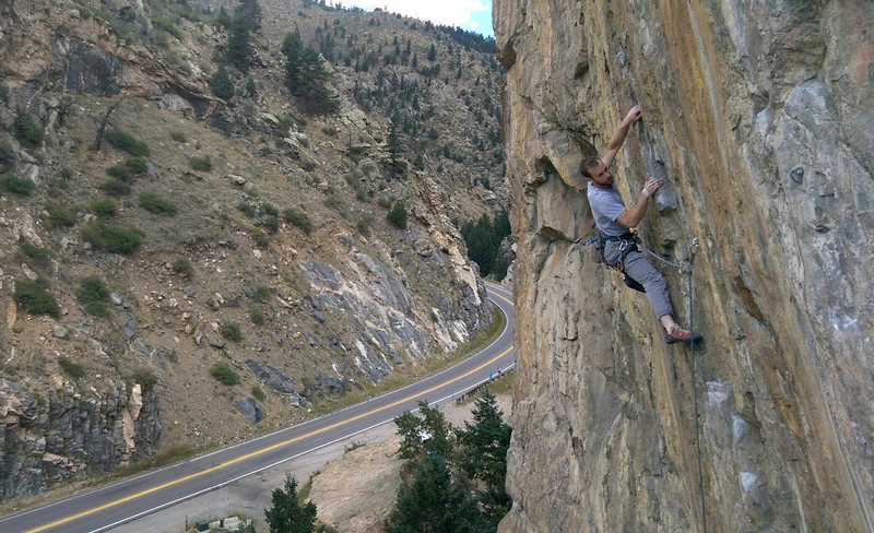 Rock Climbing Photo: Andrew McCulloch working up the shared start of Te...