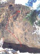 "Rock Climbing Photo: Nomad Cave's ""Compassion Fatigue""."