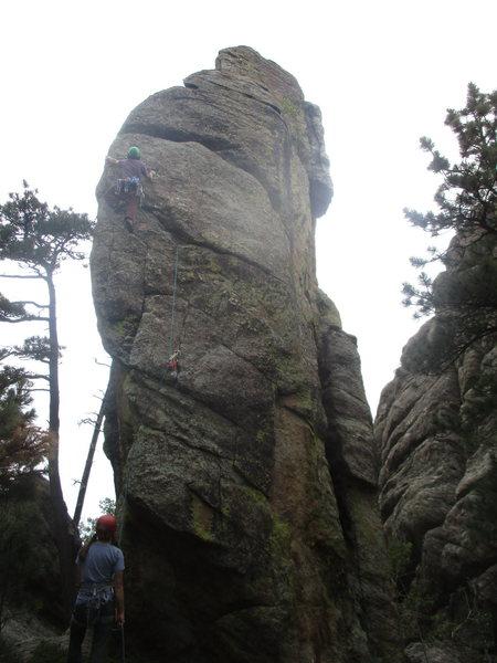 Rock Climbing Photo: On the FA.