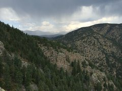 Rock Climbing Photo: Rain clouds and thunder greeted us once we topped ...