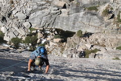 Rock Climbing Photo: Tyler following up on the 4th pitch.