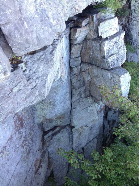 Rock Climbing Photo: Mid route, leading up to the traverse. The route g...