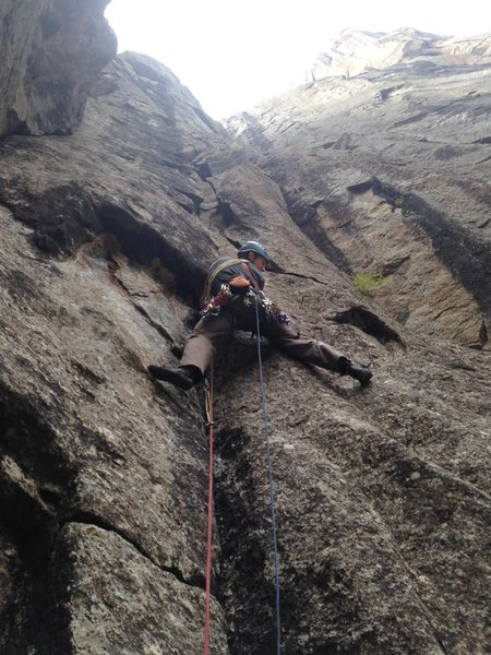 Rock Climbing Photo: Matt following starting pitch 4.