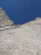 Rock Climbing Photo: The crux pitch....