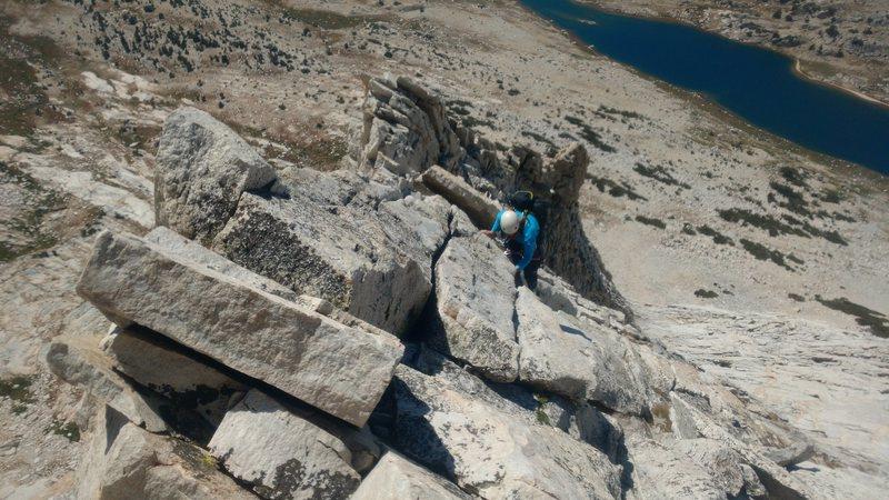 Rock Climbing Photo: The pleasure cruise on the ridge proper.