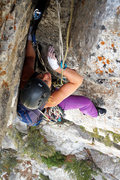 Rock Climbing Photo: The good stuff; smiling when the jams are good.  O...