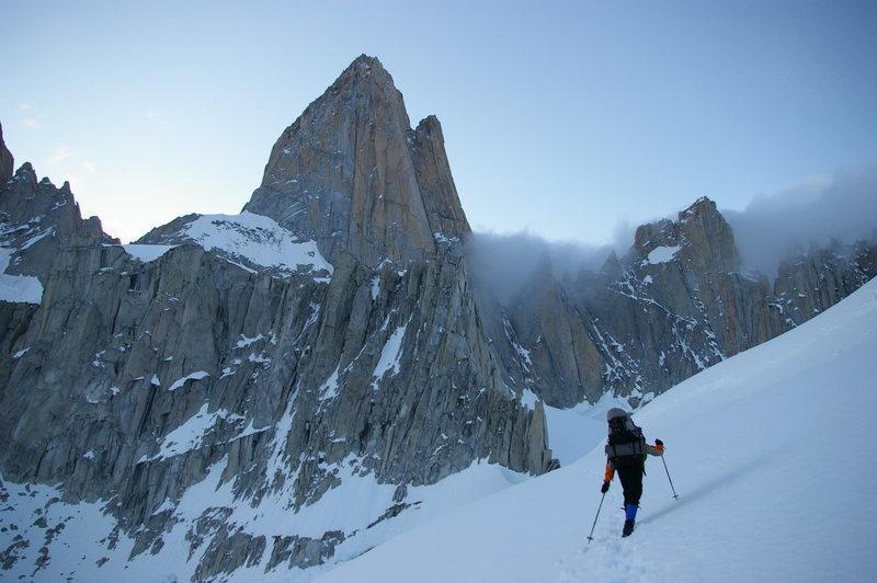 Rock Climbing Photo: approaching Fitz Roy