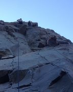 Rock Climbing Photo: Climber left on Flying Guillotine center Circus Mi...