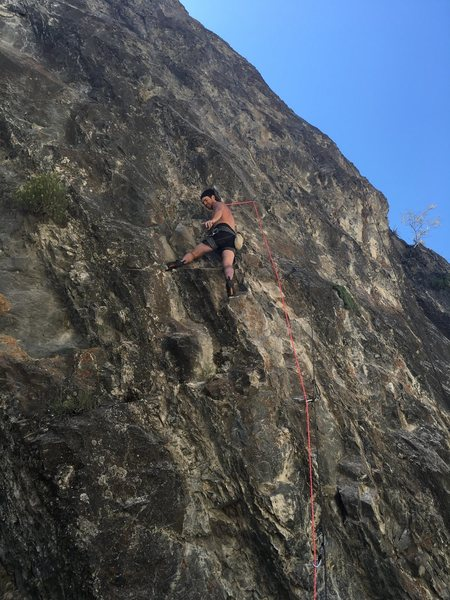 Getting the rest before the upper crux