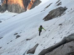 Rock Climbing Photo: A shot of the approach to the 4th class rock to ga...