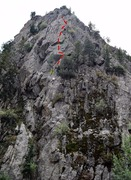 Rock Climbing Photo: Mike following the first pitch. The second pitch s...