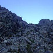 Rock Climbing Photo: Example of the scrambling up the chimneys. I didn&...