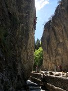 Rock Climbing Photo: Dave Morison on the rad upper section