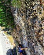 Rock Climbing Photo: Seth making the FFA