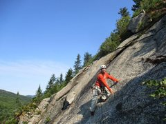 """Rock Climbing Photo: Starting the second pitch of """"The Tao of Alce..."""