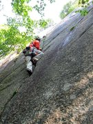Rock Climbing Photo: Starting up the right-most route on the Slab, &quo...