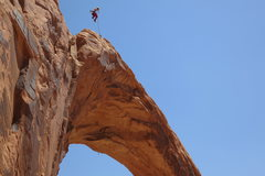 Rock Climbing Photo: When the corona arch rope swing was legal!