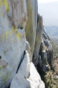 Rock Climbing Photo: looking across at the down climb to get to the sta...