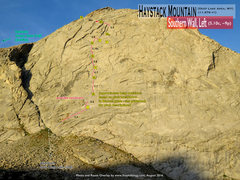 Rock Climbing Photo: Route Overlay Southern Wall Left