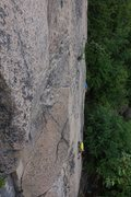 Rock Climbing Photo: Yeti Beats - Phil entering the midsection. The lin...