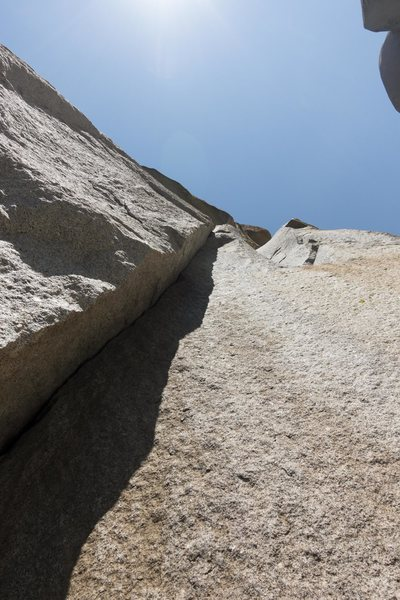 Rock Climbing Photo: looking up at the 5.12 business on the first pitch