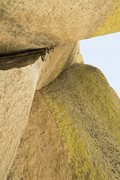 Rock Climbing Photo: looking up at the last pitch