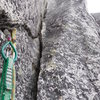 looking at the OW from the belay. Wide but secure, can sling chockstones inside. good features for feet on the right wall.
