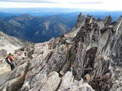 Rock Climbing Photo: summit bivy/break spot and the dragon's tail