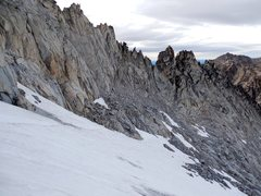 Rock Climbing Photo: descent snow conditions. We were happy to have lig...
