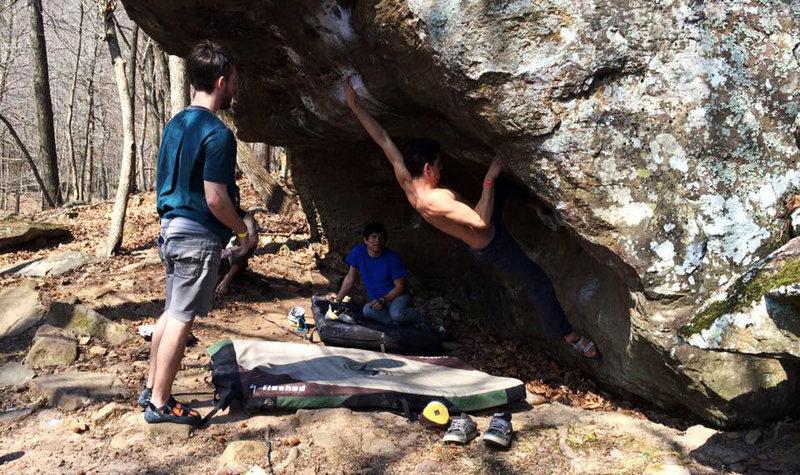 Rock Climbing Photo: Hang Ten