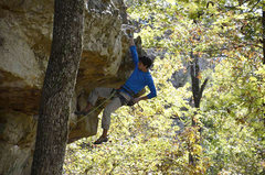 Rock Climbing Photo: Exiting the crux of Shelf Life