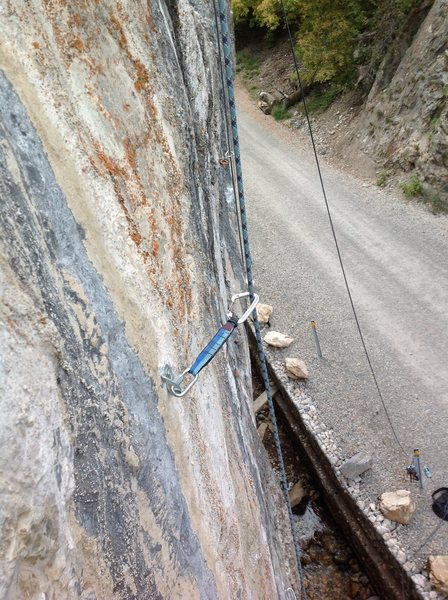 Rock Climbing Photo:  Some of the beautiful stone on this route