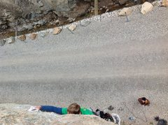 Rock Climbing Photo: Andrew Turnbo in the initial crux. Adam Griffith b...