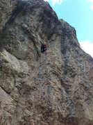 Rock Climbing Photo: D.A. taking a rest before the long crux