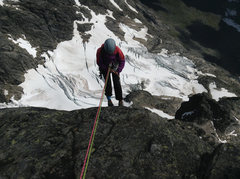 Rock Climbing Photo: Raps from the summit block. Trust you'll end u...