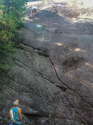 Rock Climbing Photo: Jay Strane on the sharp end of Rum Doodle.