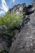 Rock Climbing Photo: P4 Regular Route, Chapel Pond Slab