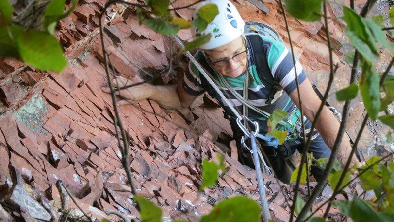 Erol on &quot@SEMICOLON@Book of Saturdays&quot@SEMICOLON@ on Norwich ledge, in the western UP of Michigan