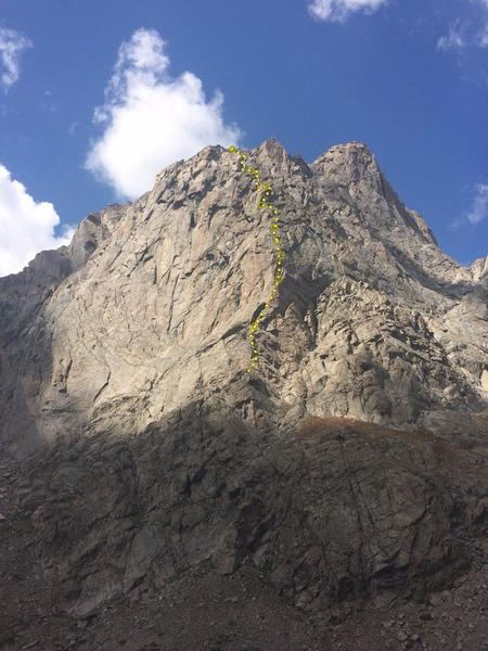 Rock Climbing Photo: E Buttress of Warbonnet. Who's On First follow...