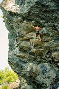 Rock Climbing Photo: Anna sending Giant Man in style