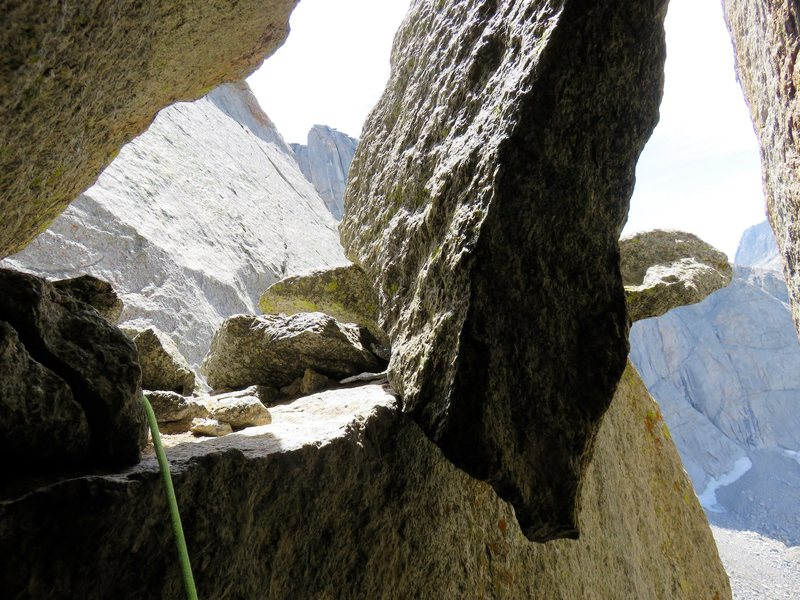 The ledge at the top of Pitch 4.