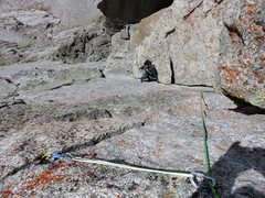 Rock Climbing Photo: Jeff on the 5.9 corner pitch to the top. This is a...