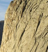 Rock Climbing Photo: Zoomed in on the two distinct dihedrals on Haystac...